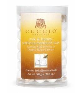 Антисептические шарики, для маникюрных ванн, мед, молоко и масло белого чайного дерева. Уп.100шт.
