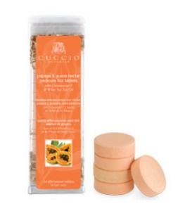 Антисептические шипучие таблетки, для педикюрных ванн, экстракт папайи и зеленого чая уп.24шт.